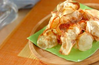 オーブンで作るポテトチップス