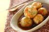 揚げ芋のあんかけの作り方の手順
