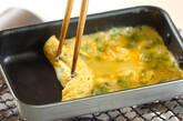 麺つゆで卵焼きの作り方2