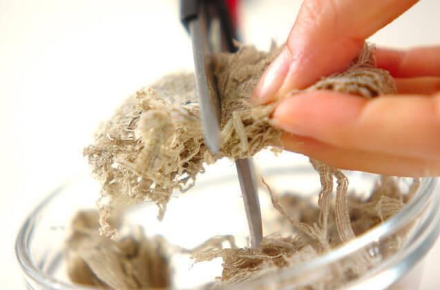 シメサバのさっぱり梅昆布和えの作り方の手順3
