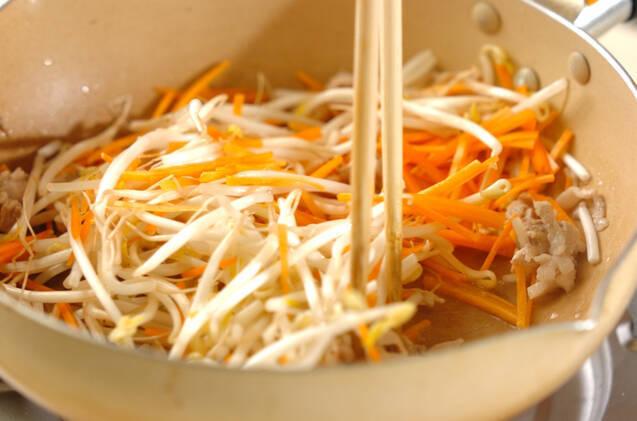 モヤシのソース炒めの作り方の手順5