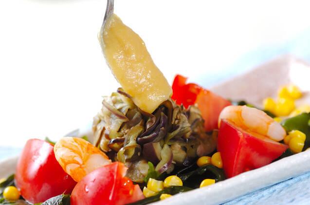 ナスのカラシ酢みそ和えの作り方の手順7