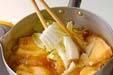 揚げ袋と白菜の煮物の作り方6