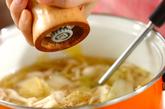 白菜とホワイトシメジのスープの作り方2