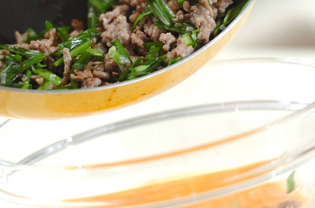 ニラの韓国風卵焼きの作り方の手順4