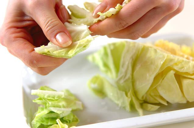 春野菜のすき煮丼の作り方の手順1