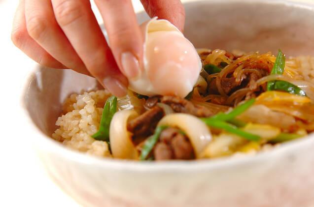 春野菜のすき煮丼の作り方の手順4