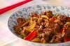 牛肉と野菜のソース炒めの作り方の手順