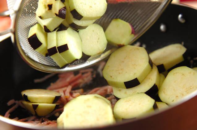 ナスのガーリック炒めの作り方の手順3