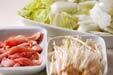 白菜と豚肉のスープ煮の下準備1