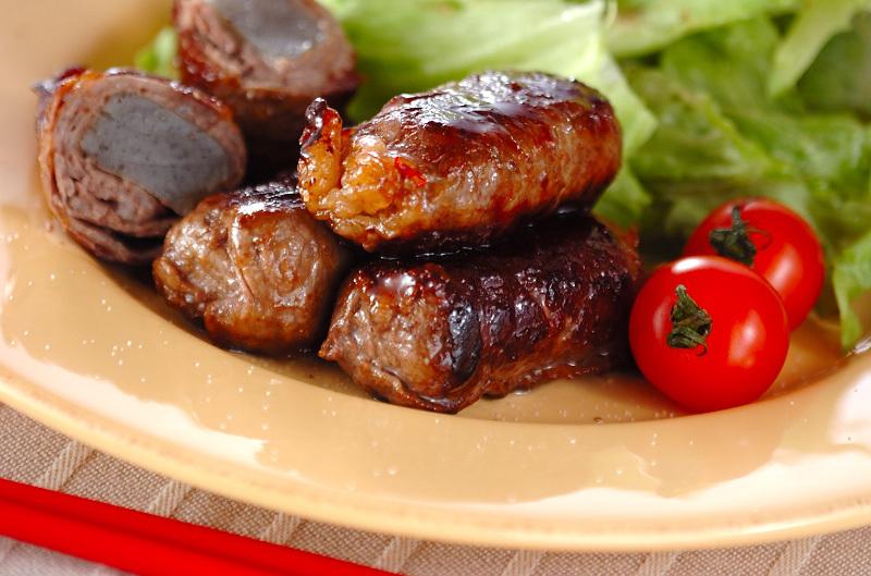 3.牛肉のコンニャク巻き