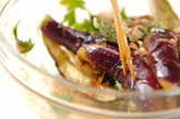 レンジ蒸しナスサラダの作り方2