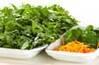 菊菜のゴマ和えの作り方の手順1