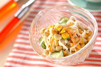 大豆のサラダ