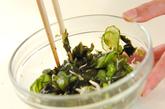 塩もみキュウリの甘酢和えの作り方1