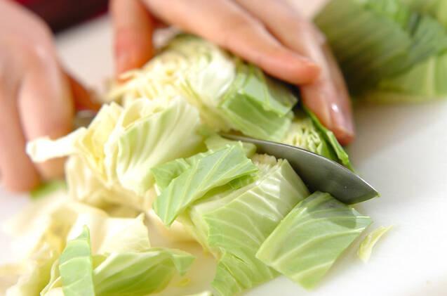 キャベツのチーズ炒めの作り方の手順1