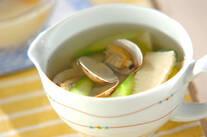アサリとアスパラのスープ