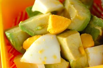 酢漬け卵とアボカドのサラダ