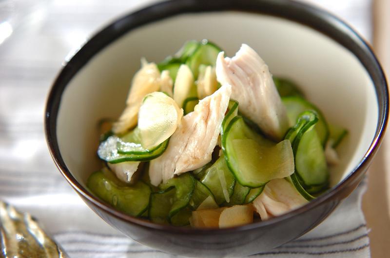 3.ささ身の甘酢の生姜和え