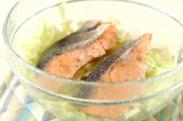 鮭とキャベツのオーブン焼きの作り方の手順5