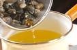 貝のみそ汁の作り方1