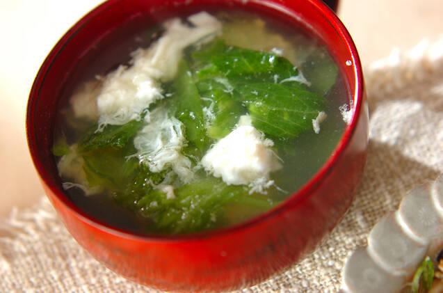 レタスと卵白のスープ