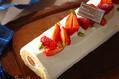 イチゴのビッシュ・ド・ノエル
