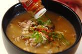 鶏ゴボウのみそ汁の作り方4