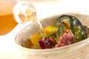お漬物の冷茶漬けの作り方の手順2