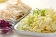 白菜とエノキの甘酢和えの下準備3