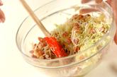 キャベツとウインナーのサラダの作り方2