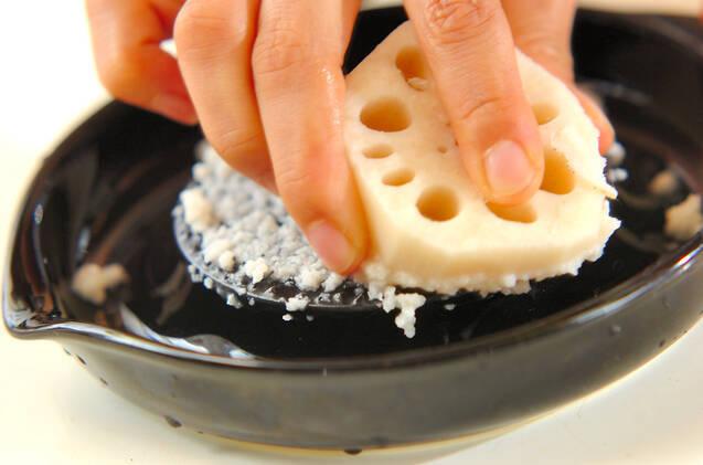 おろしレンコン汁の作り方の手順1