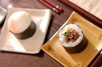 巻き寿司すき焼き