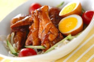 手羽と卵の黒酢煮