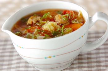 野菜とアサリのスープ