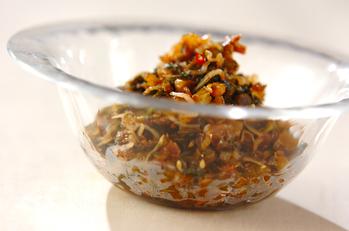 セロリの葉の佃煮