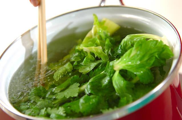 セロリの葉の佃煮の作り方の手順1