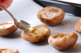 シイタケのパン粉焼きの作り方1
