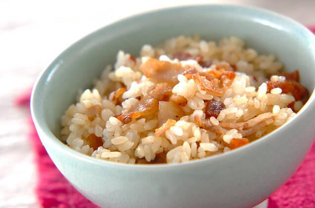 カリカリ豚の混ぜご飯