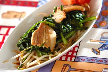 豚バラ肉と菊菜の炒め物