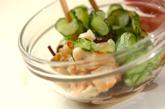 丸麩とキュウリのゴマ酢和えの作り方2