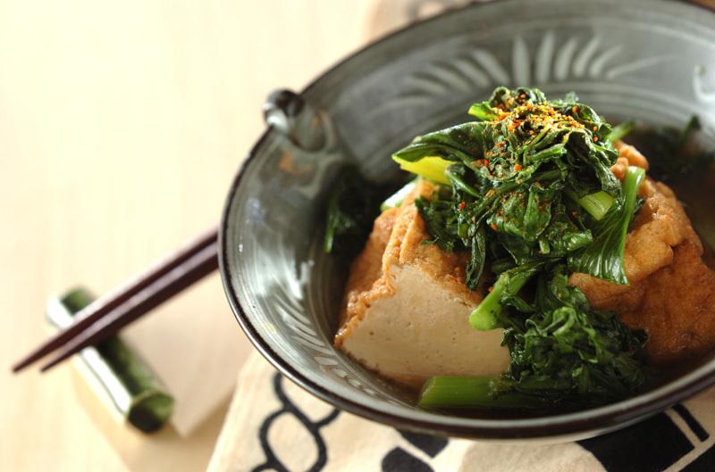 青菜と厚揚げのサッと煮