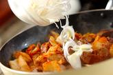 鶏レバーのキムチ炒めの作り方2