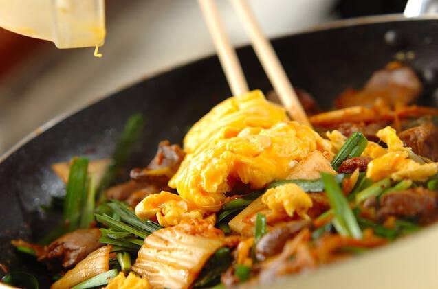 鶏レバーのキムチ炒めの作り方の手順9