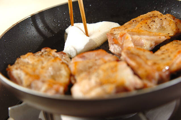 マッシュルームソースチキンソテーの作り方の手順5