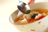 根菜とトマトのコンソメスープの作り方4