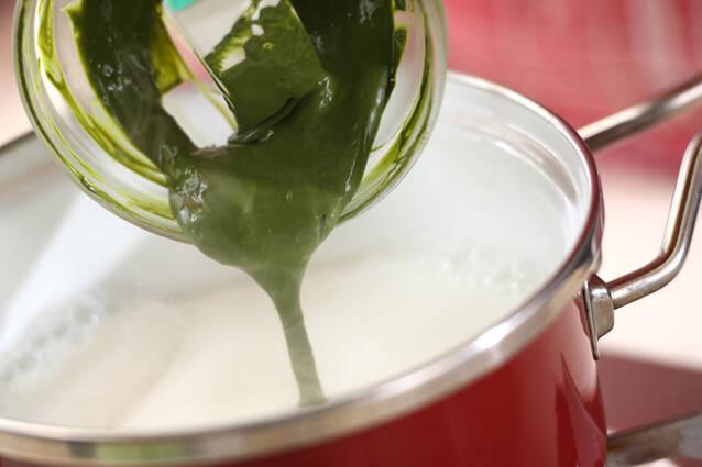 抹茶プリン・ベリーソースの作り方の手順4