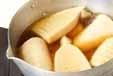 筍とサーモンの重ね焼きの下準備1