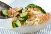 鮭とキュウリの冷や汁素麺の作り方5
