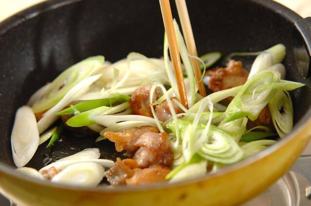 さっぱり柚子胡椒香る!鶏もも肉と白ネギのポン酢炒めの作り方の手順2